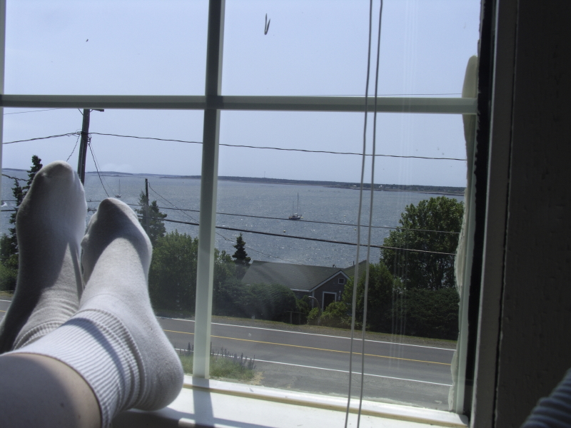 Feet up, down the cove