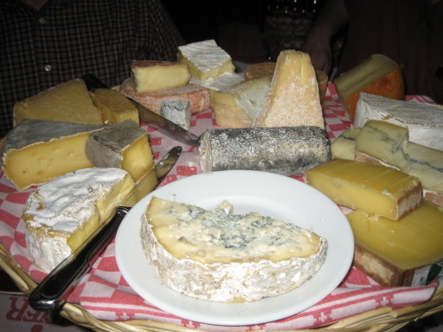 Cheese plate -- Paris