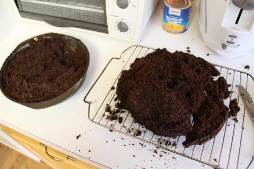 broken cake