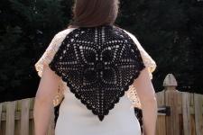 crochet V shawl
