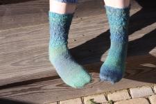 Blue Melody Socks