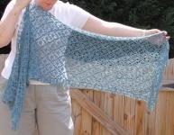 Blue Crochet Stole