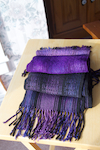 painted warp purple scarf set