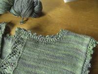 Neck crochet picot detail