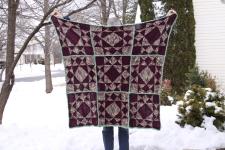 patchwork lap blanket