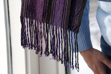 first scarf,                fringe