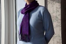 third scarf,                worn